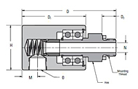 Single Passage Rotorseals Mounting Dimensions