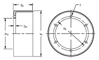 CB Mounting Components - Internal Flange Drums